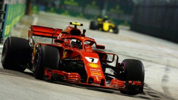 GP de Singapour: Räikkönen (Ferrari) le plus rapide aux essais libres 2