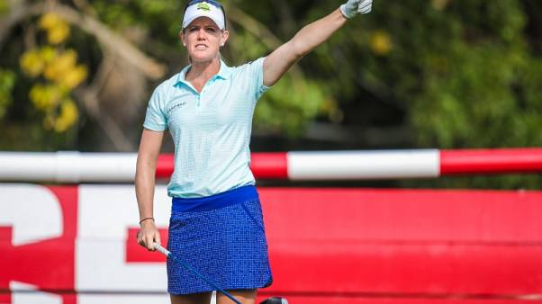 Four-way tie for Evian lead after Olson fires 65