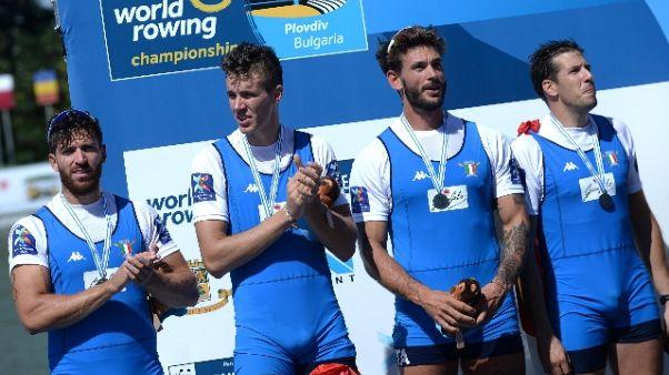 Mondiali canottaggio: 3 medaglie Italia