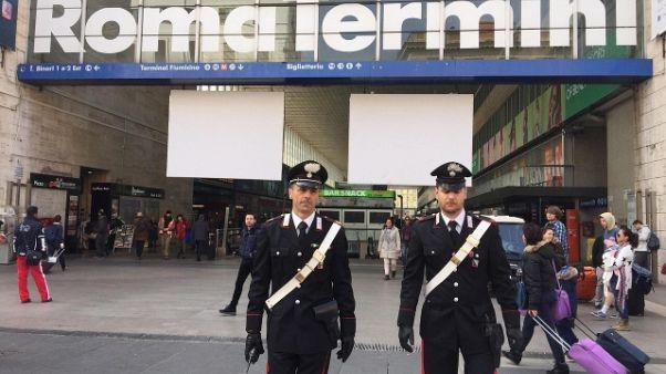 Roma: primi 3 Daspo per stazione Termini