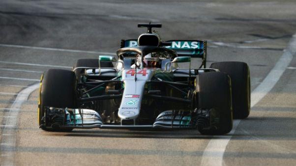 GP de Singapour: Hamilton (Mercedes) en pole position