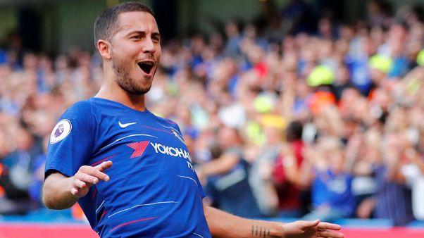 Hazard hat-trick against Cardiff sends Chelsea top