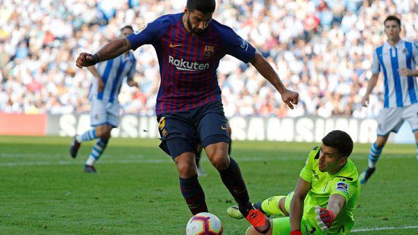 برشلونة يستغل مساندة الحظ له ليهزم سوسيداد وريال يتعادل مع بيلباو