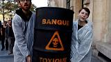 Anti-capitalism group targets French banks a decade after Lehman Brothers demise