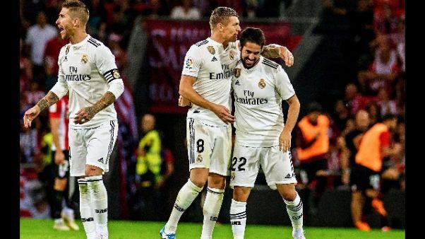 Real Madrid solo 1-1 con Athletic Bilbao