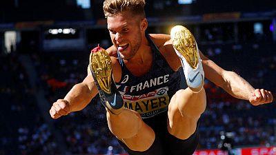 France's Mayer breaks world decathlon record