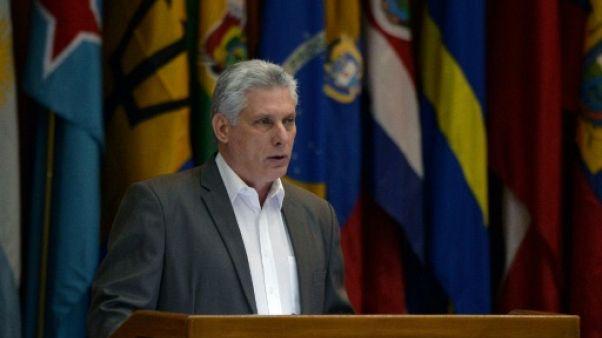 """Les relations Cuba-Etats-Unis """"sont en recul"""", selon le président cubain Diaz-Canel"""