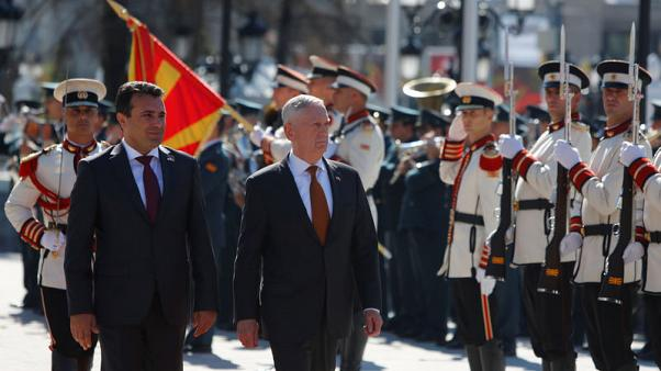 U.S. Defense Secretary warns of Russian meddling in Macedonia referendum