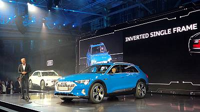 Audi launches electric SUV in Tesla's backyard, with assist from Amazon