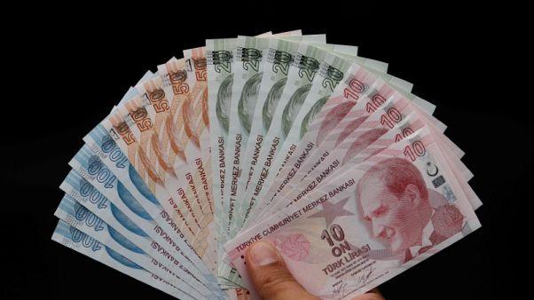 الليرة التركية تنخفض مقابل الدولار وتمحو مكاسب رفع الفائدة