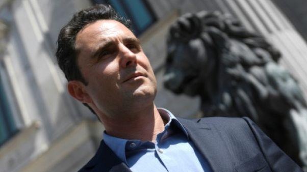 Le lanceur d'alerte franco-italien Hervé Falciani le 8 mai 2018 à Madrid