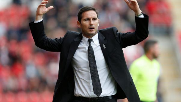 Derby manager Lampard fined after being sent off