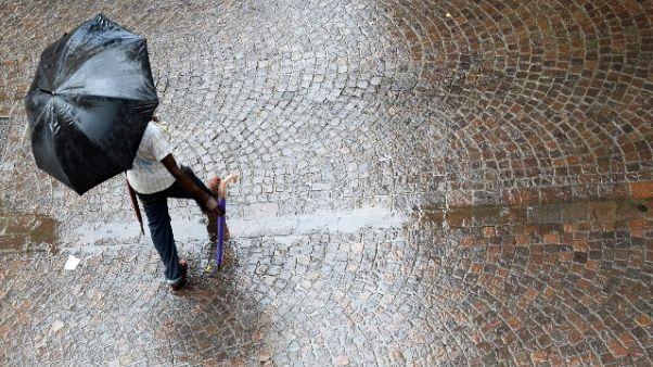 Maltempo:temporali su Sardegna e Sicilia
