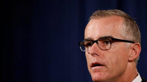 Fired FBI official McCabe writes book on Trump, terrorism - publisher