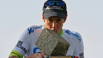L'Australien Mathew Hayman vainqueur de Paris-Roubaix le 10 avril 2016