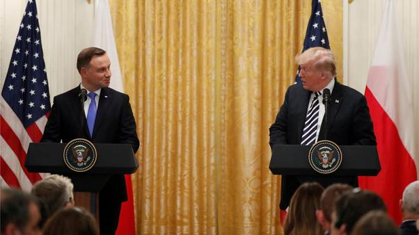 Trump says U.S. considering permanent military presence in Poland