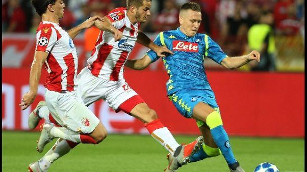 Champions: Stella Rossa-Napoli 0-0