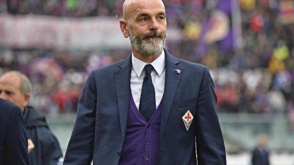Omaggio Fiorentina a morti ponte Morandi