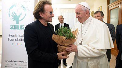 U2's Bono and Pope discuss Irish sexual abuse crisis