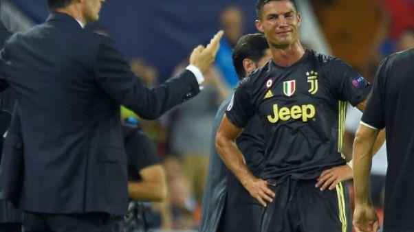 Ligue des champions: la Juventus gagne à Valence mais Ronaldo perd ses nerfs