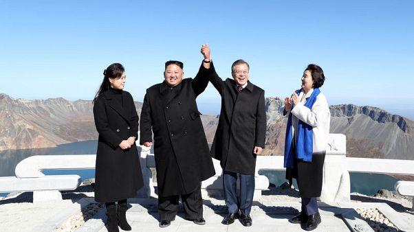 Dream comes true for South Korea's Moon: Trekking Mt Paektu with Kim Jong Un