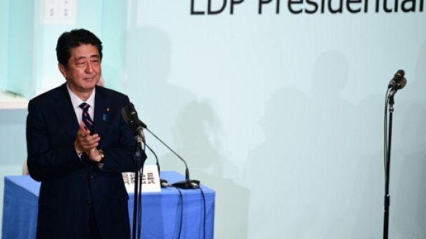 Japon: le Premier ministre Shinzo Abe réélu à la tête de son parti