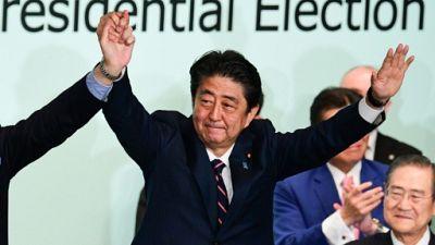 Japon: Shinzo Abe réélu à la tête de son parti
