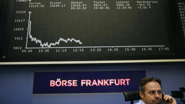 European shares add to gains as trade war fears fade