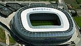 Vue aérienne de l'Allianz Riviera, le stade de l'OGC Nice, le 25 avril 2016