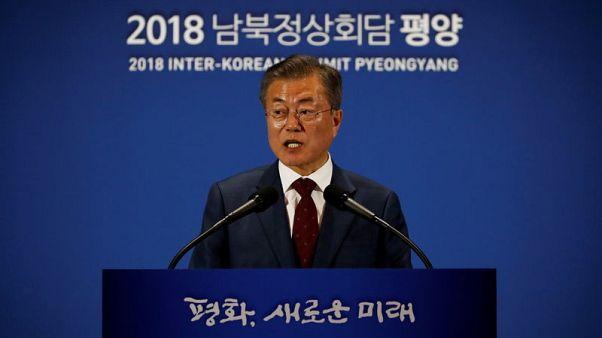 رئيس كوريا الجنوبية: كيم يريد قمة ثانية مع ترامب للإسراع بنزع السلاح النووي