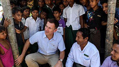 Hunt says pressed Suu Kyi on 'justice and accountability' for Rohingya
