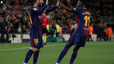 Dembele, Messi partnership fuelling Barca goal rush