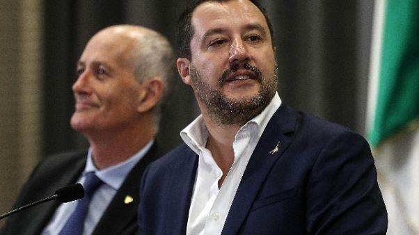 Migranti: Salvini, ok a dl lunedì