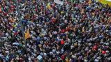 Thousands gather in Barcelona as anniversary of independence vote approaches