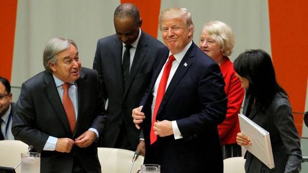 At U.N. podium, Trump to tout protecting U.S. sovereignty