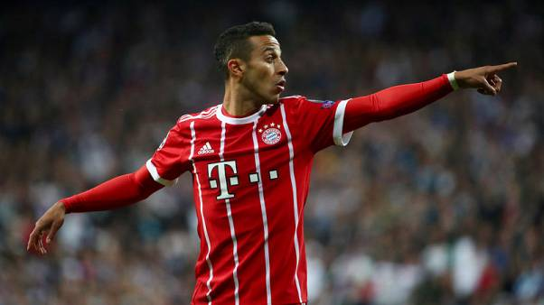 Bayern's Thiago fit for Schalke match