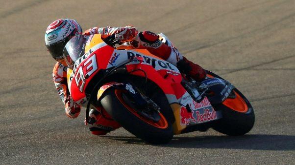 Aragon, Marquez domina le 2/e libere