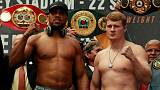 Joshua adds weight for title fight against lighter Povetkin