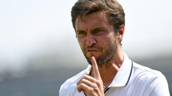 Le Français Gilles Simon lors de Wimbledon, le 7 juillet 2018