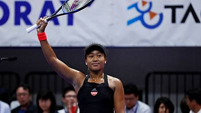 Tennis - Osaka wins 10th straight match to power into Tokyo final