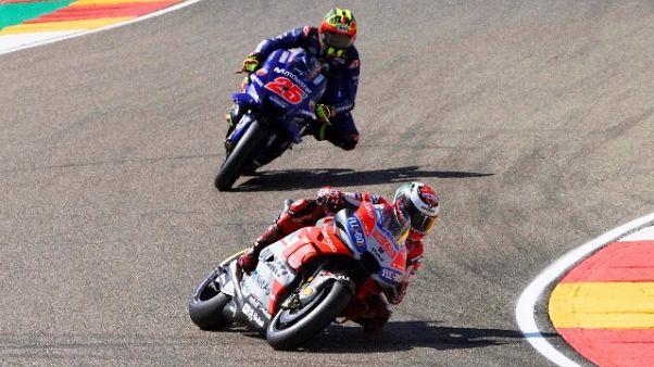 Moto: Aragon, pole per Jorge Lorenzo