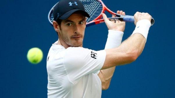 Le Britannique Andy Murray lors du 2e tour de l'US Open le 29 août 2018