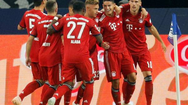 James on target as Bayern ease past Schalke