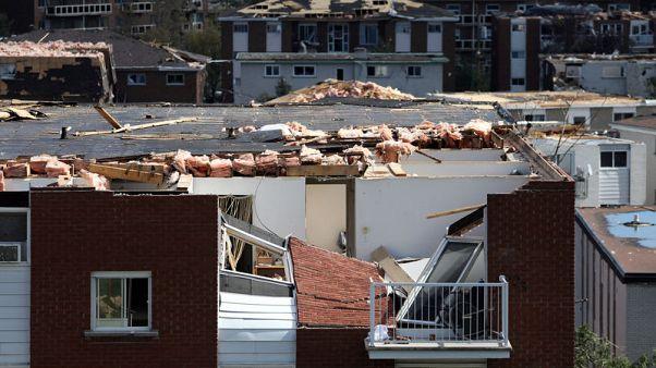 انقطاع الكهرباء عن نحو 200 ألف شخص في العاصمة الكندية ومحيطها بعد إعصار
