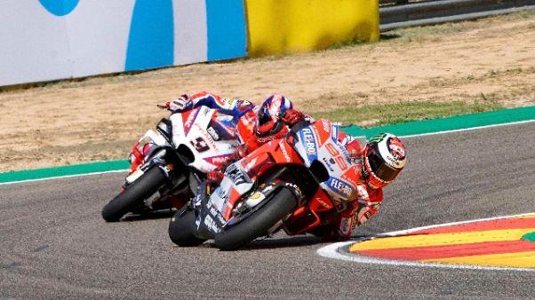 Moto:Aragon,Ducati Lorenzo subito fuori