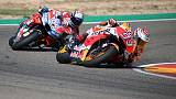 Marquez holds off Dovizioso to win in Aragon