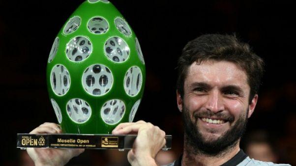 Gilles Simon vainqueur du tournoi de Metz, le 23 septembre 2018