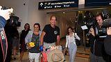 Australian filmmaker freed from Cambodia prison arrives in Sydney