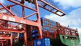 Des conteneurs dans le port de Lianyungang, le 13 juillet 2018 en Chine