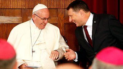 Cherish and defend hard-won freedom, pope tells Latvians